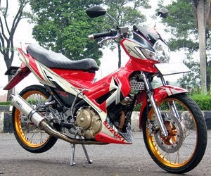 Modifikasi satria fu air brush 2