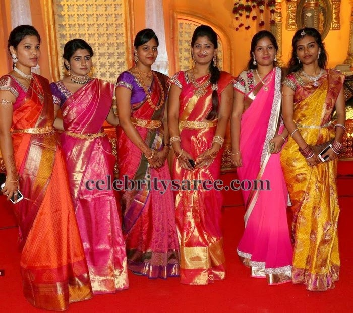 Gorgeous Ladies in Traditional Silk Saris