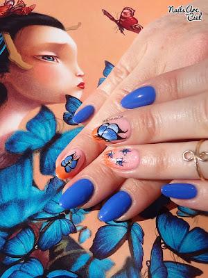 Assorti à Madame butterfly de Benjamin Lacombe par Nails Arc en Ciel
