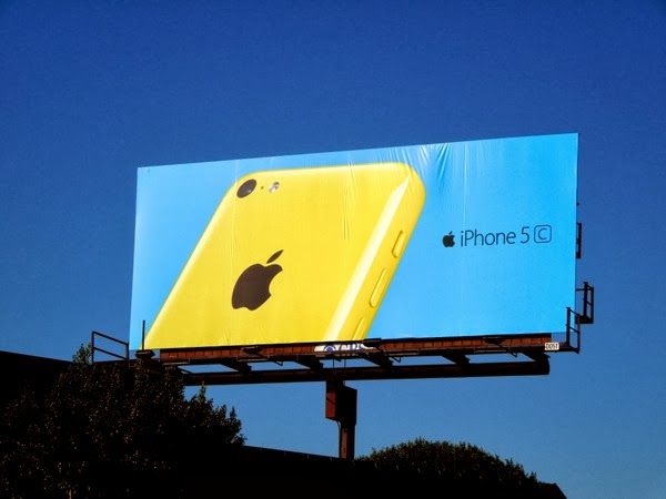 yellow iPhone 5c wave 2 billboard