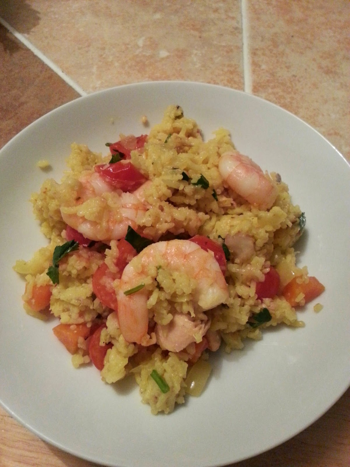 Good food etc prawn and salmon pilaf finally cleaning out my old stash of recipes torn out of magazines printed off from websites and generally just collected from any old place forumfinder Choice Image