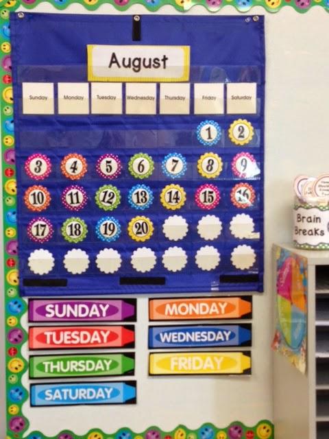 Calendar Pocket Chart Kindergarten : Daughters and kindergarten basics of a classroom
