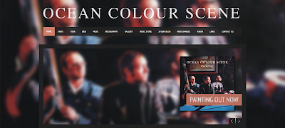 screenshot of Ocean Colour Scene site - barcelonasights