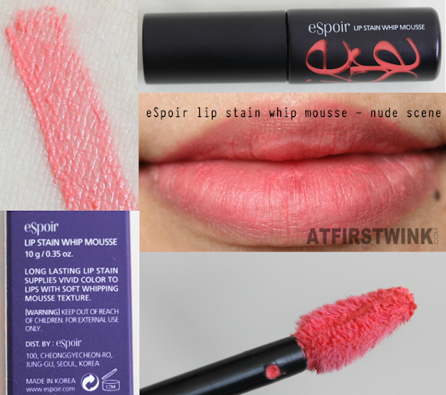 eSpoir Lip Stain Whip Mousse CR501 - Nude Scene swatches