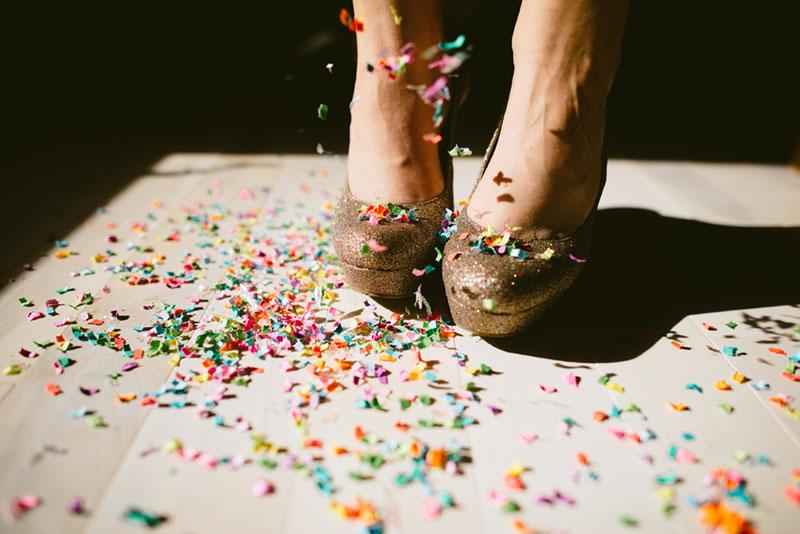 The Confetti Bar; confetti hi heels