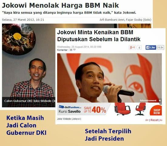 Jokowi Menolak Kenaikan BBM apa Jokowi Meminta Kenaikan BBM