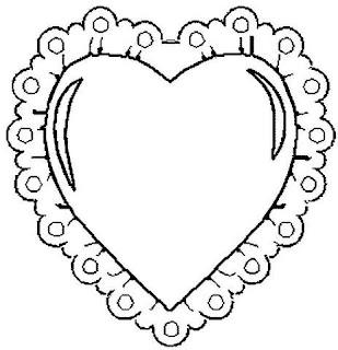 Risco para pintura de coração