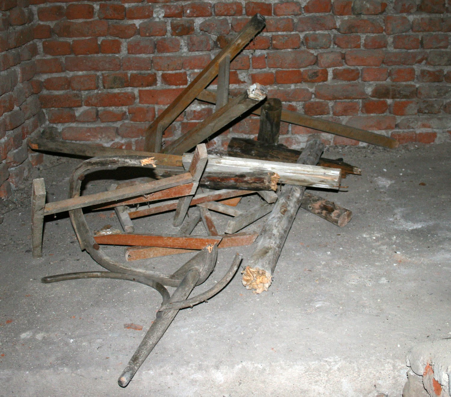 Some old furniture to break apart and burn