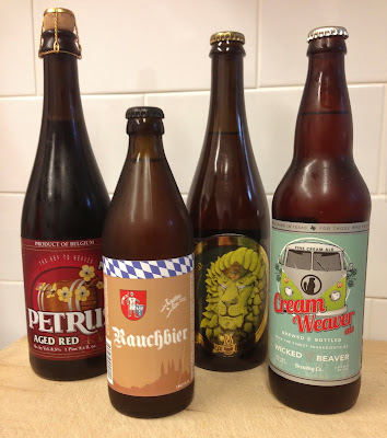 Petrus Aged Red Sour Ale, Jester King Noble King, Southern Star Rachbier, Wicked Beaver Cream Weaver