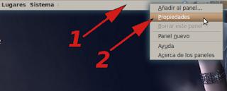 Abrir opciones del panel de ubuntu