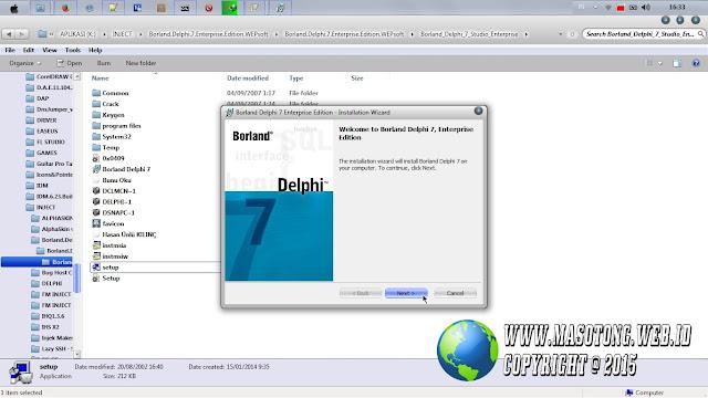 cara instal borland delphi 7 di pc laptop