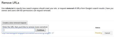 Blog Info, remove url-1