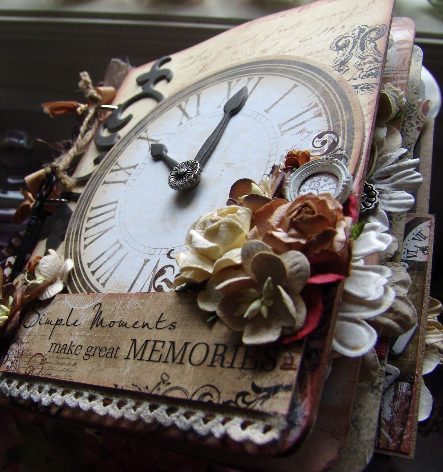 Vintage Scrapbook Cover : Scrapn mygirlz vintage timepiece premade scrapbook album