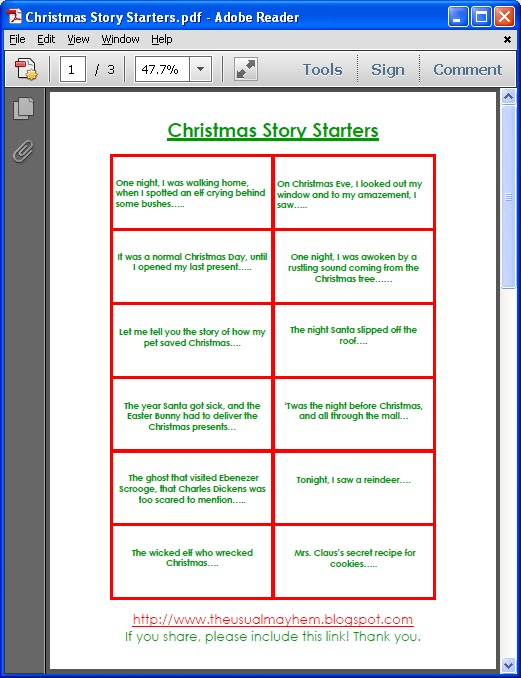 Christmas Story Starters 2nd Grade Christmas Winter