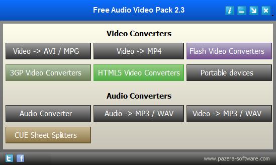 好用的免費影片、音樂轉檔軟體推薦:Free Audio Video Pack Portable 免安裝版下載