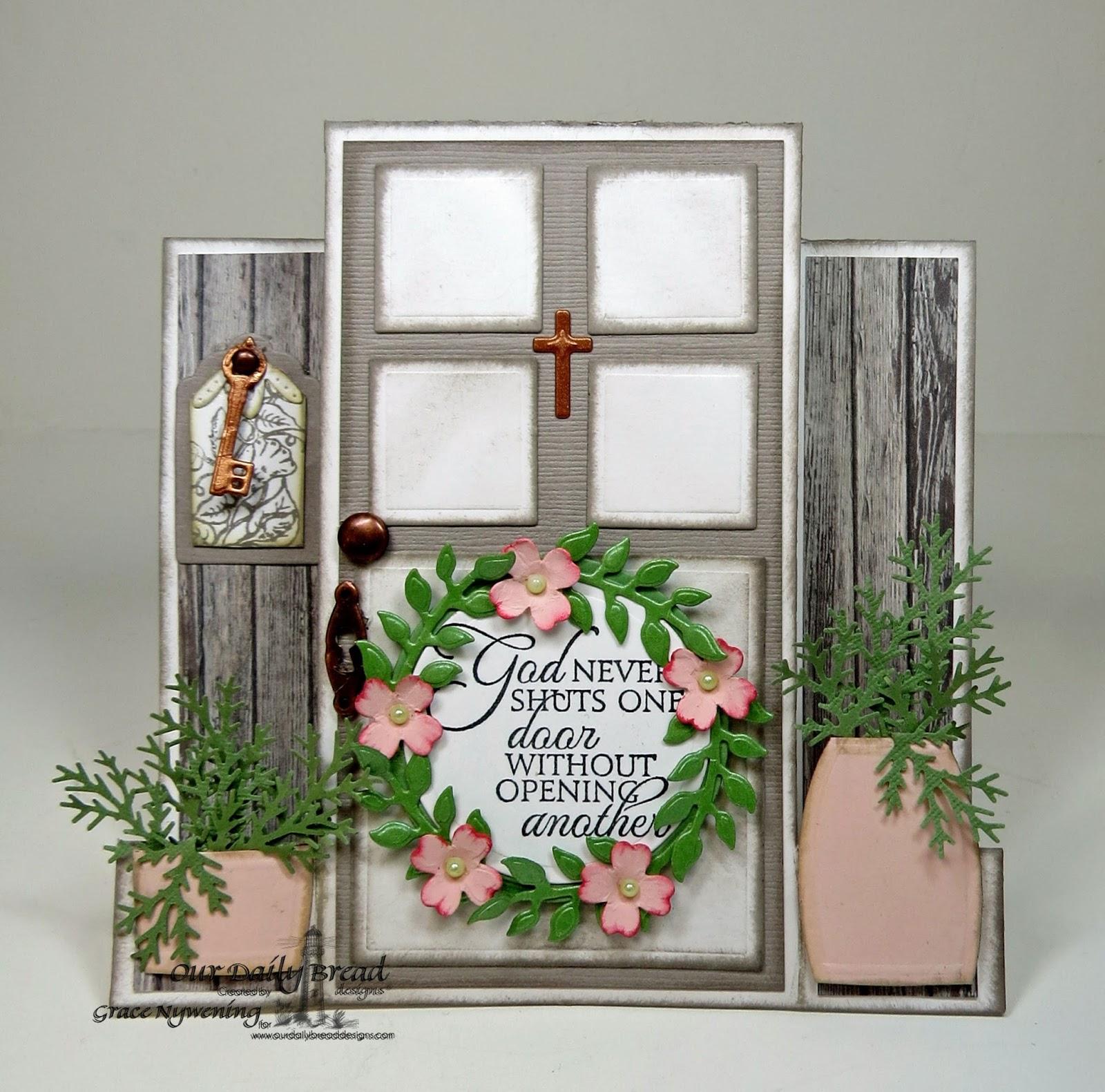 Stamps - Our daily Bread Designs Key to Heaven, Glory, ODBD Custom Ornamental Crosses Die, ODBD Custom Fancy Foliage Die, ODBD Custom Angel Wings Die