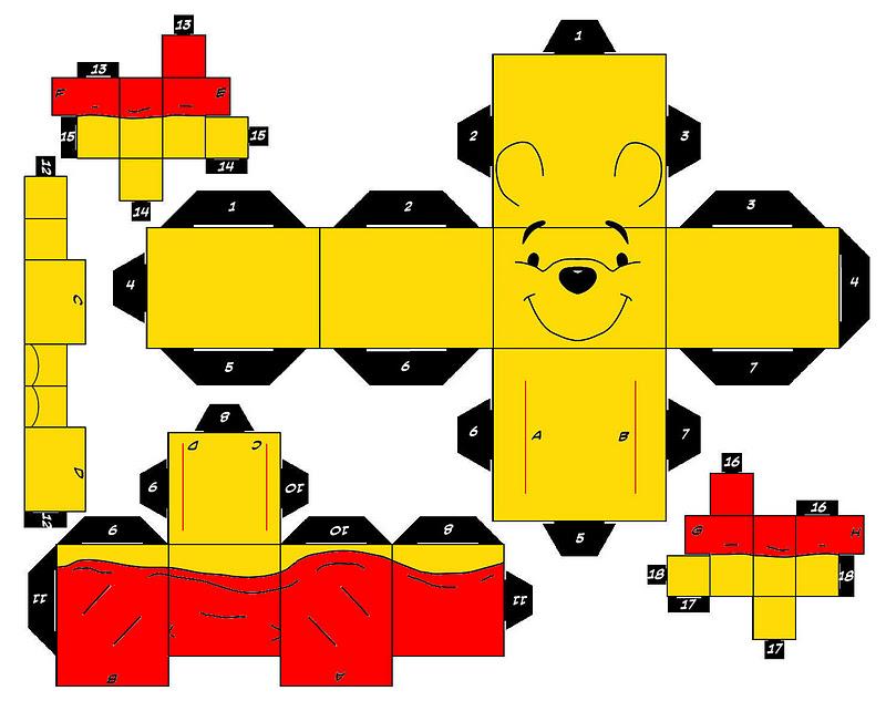 Preferência Fazendo a Minha Festa Infantil: Bonecos para Montar 3D Pooh! HD84