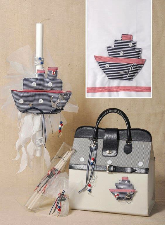 boat themed baptism set from Greece