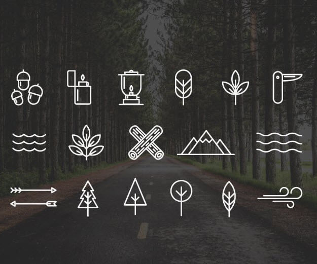 Free Wilderness/Camping Icons (AI)