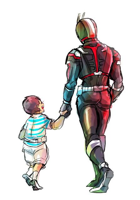 Gambar, Ilustrasi, Kamen Rider, Ksatria Baja Hitam,  Masa Kecil, Kamen Rider Faiz