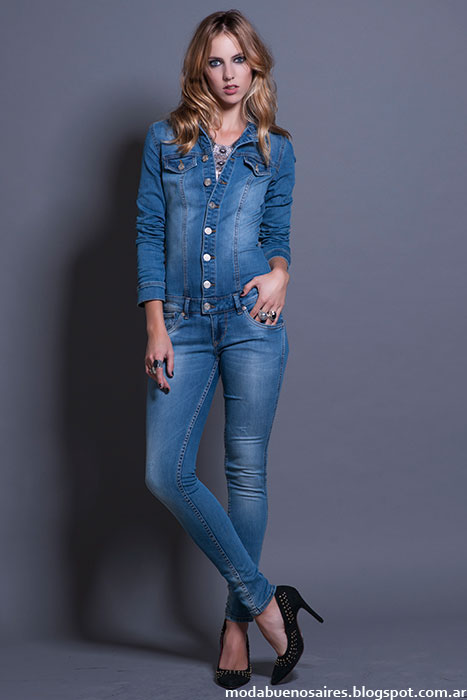 Looks total denim Rosh invierno 2015.