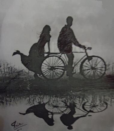 Couples under moon light