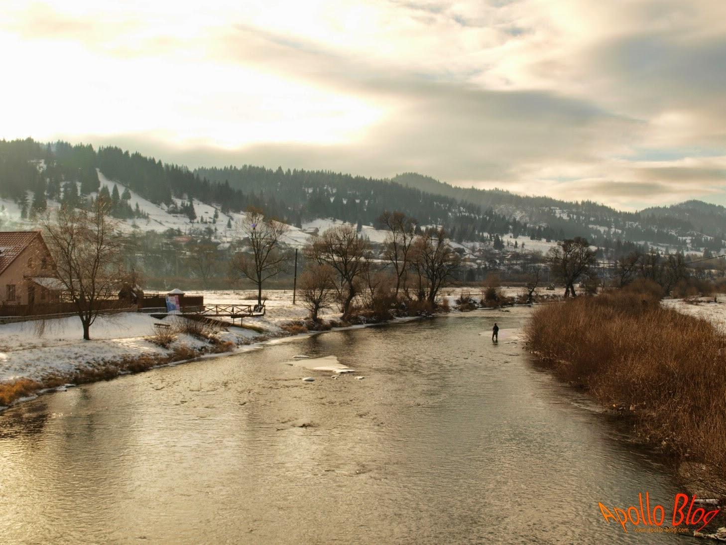 Pescuit iarna pe Mures