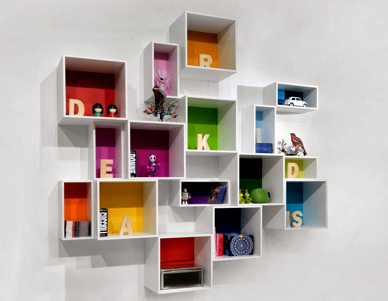 50 desain rak dinding minimalis termasuk rak buku for Librerie pensili componibili