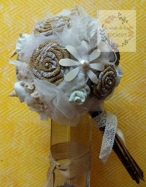 ramo vintage tonos naturales para novia