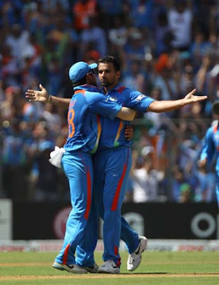 Zaheer Khan celebrating