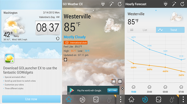 GO Weather-Android Weather app