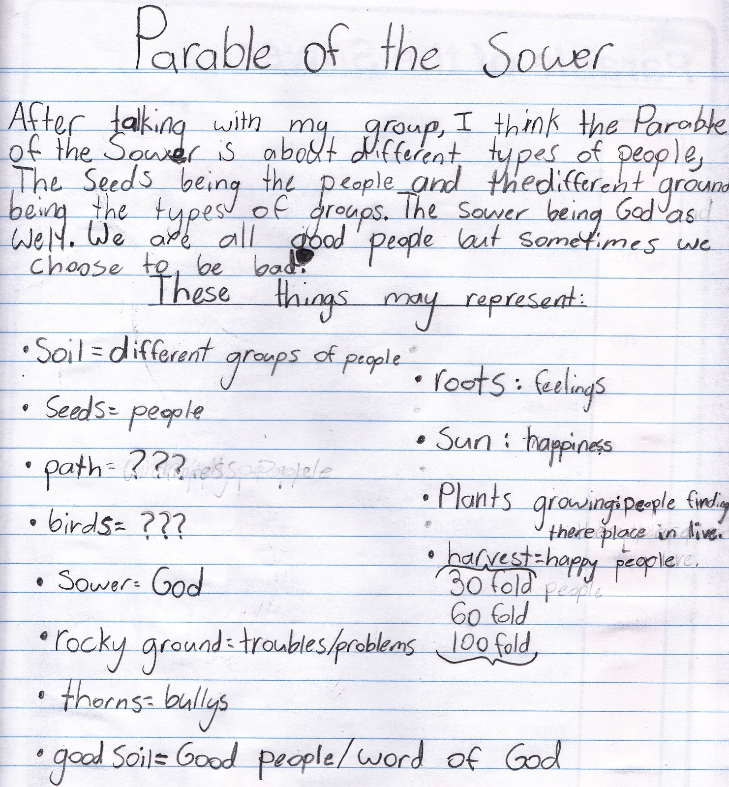 how to write a parable