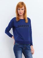 Tricou modern, de culoare bleumarin (Top Secret)
