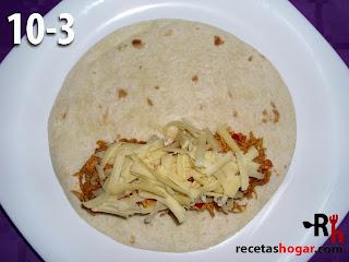 Fajitas de pollo desmechado con queso - paso-10-3