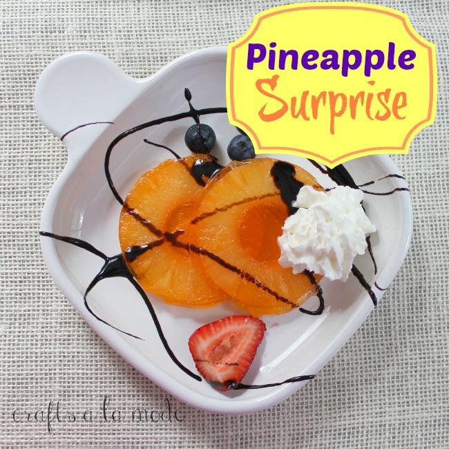 Dessert pineapple with Jello
