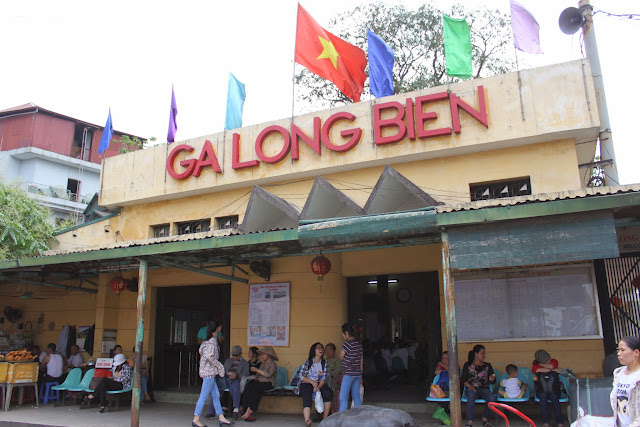 Ga Long Bien Railway Station is situated near to Long Biên Bridge in Hanoi, Vietnam