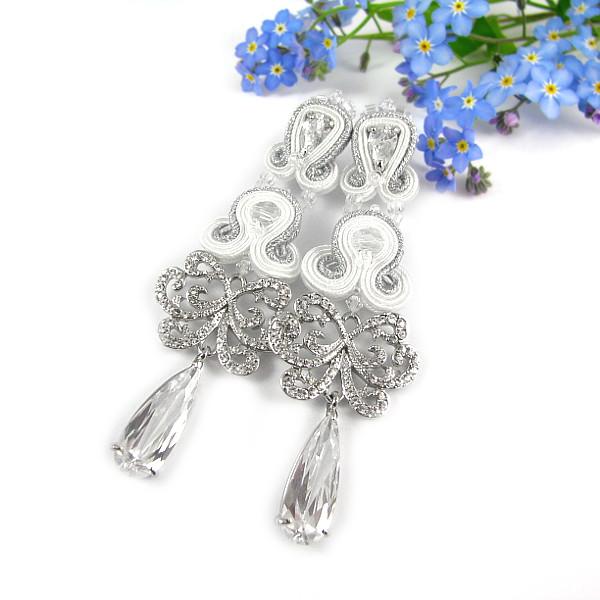 """Biżuteria ślubna sutasz - kolczyki z kryształami Swarovski """"Papilio"""""""