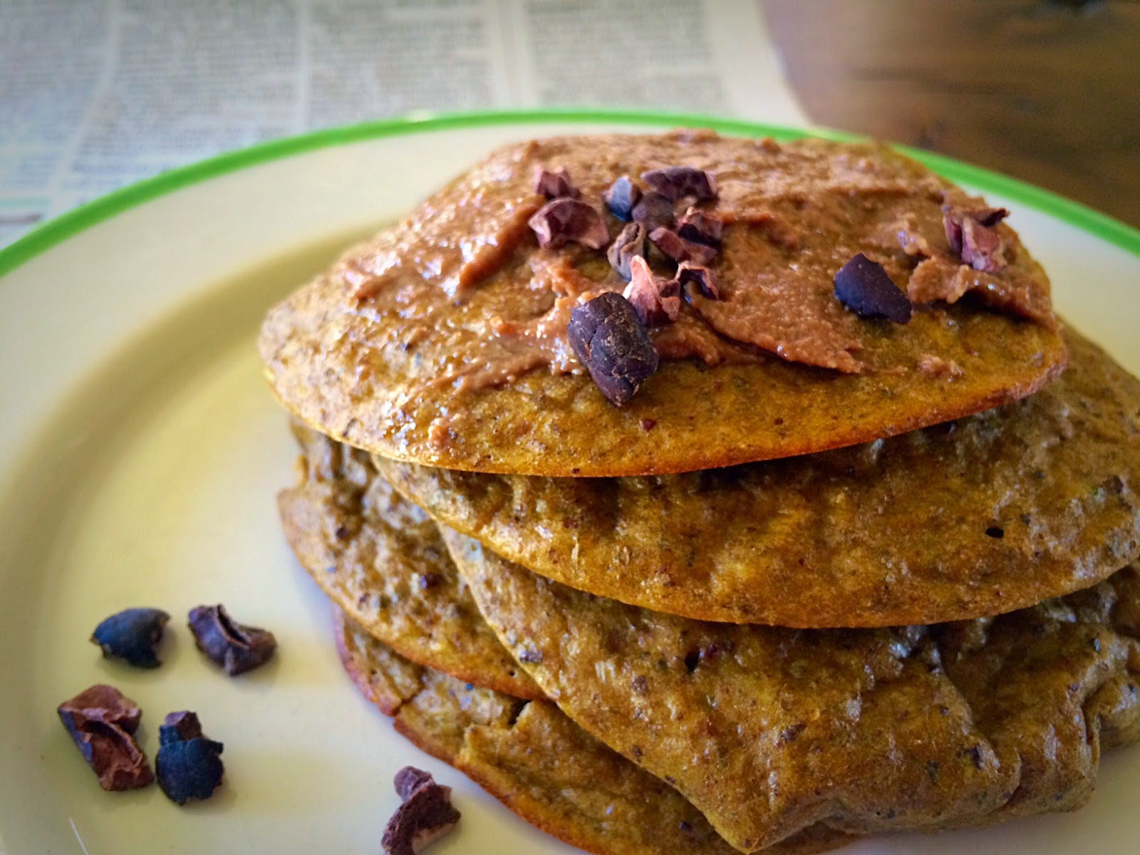 Clean Eating Cacao Chia Pancakes by Running Girl
