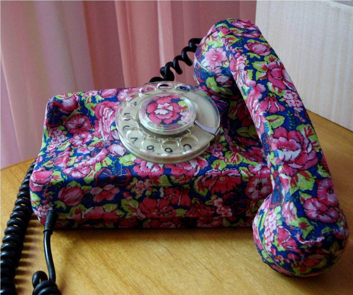 Artesanato Kaminski Telefone ~ Ch u00e3o de Giz Artesanatos Telefone forrado com Chita