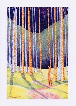 Giraffe Greeting Cards by UK Artist Ingrid Sylvestre - Giraffe Quest