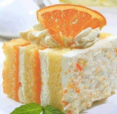 Orange Dreamsicle Cake, shared by Home Cooking Recipe Box at The Chicken Chick's Clever Chicks Blob Hop