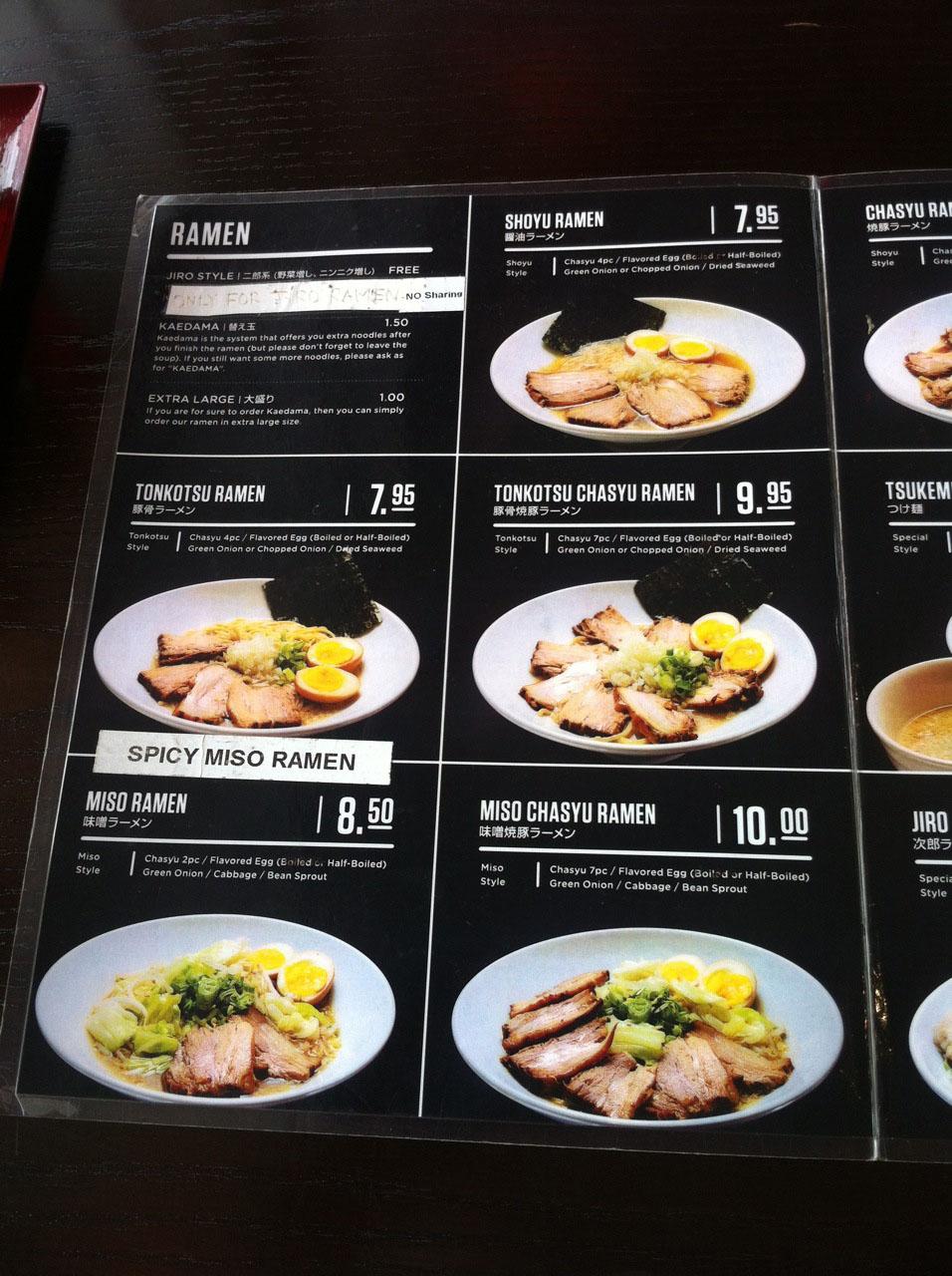 Thai Corner Cafe Menu