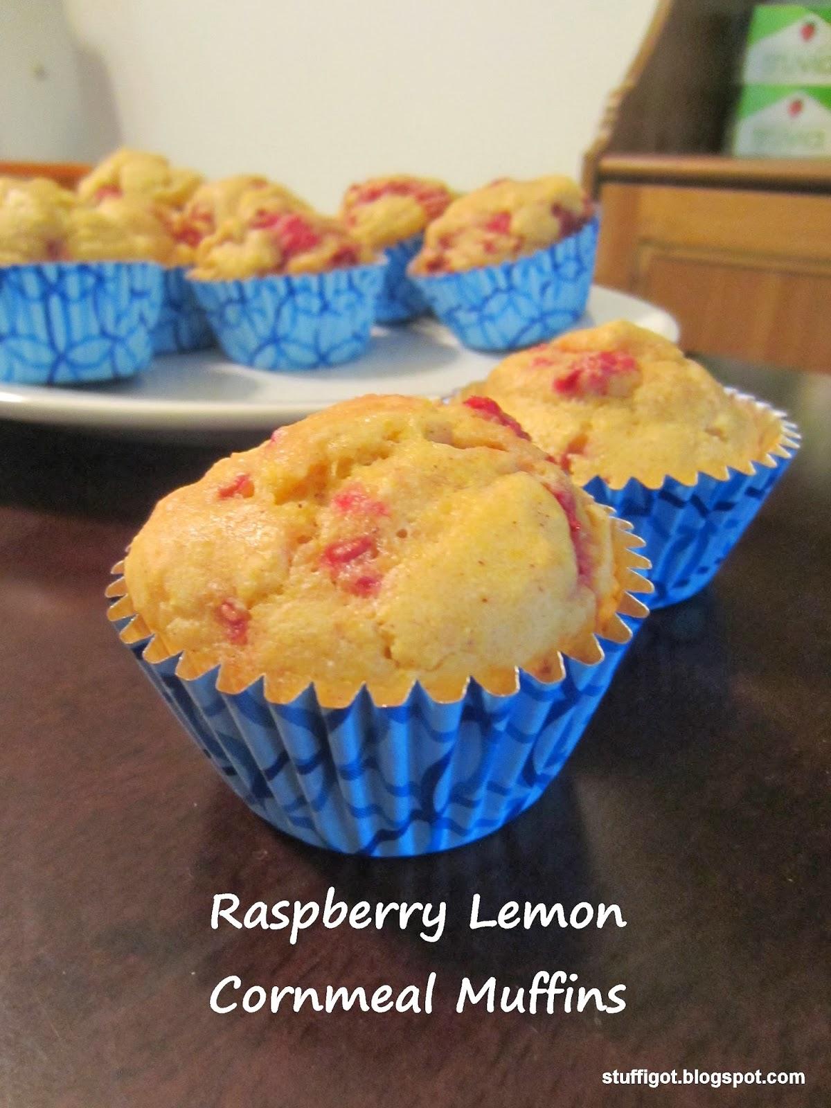 Raspberry Lemon Cornmeal Muffins