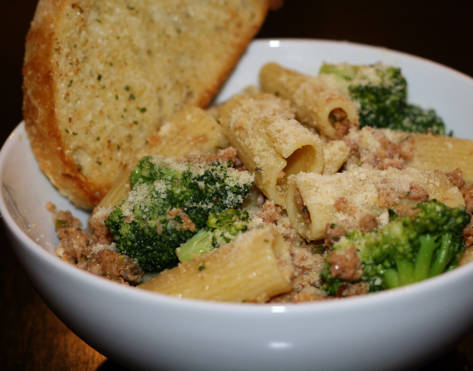 what's for dinner?: rigatoni with broccoli and sausage... 50 minutes