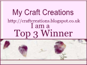 Made top 3 at My Craft Creations