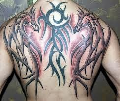 Tribal Dragon Tattoo Design Artistic