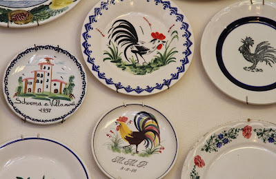 Plates on the Wall of Albergo della Ceramica