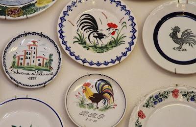 Plates on the Wall of Albergo della Ceramica