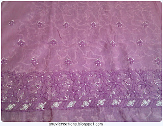 lucknowi chikan suitlength