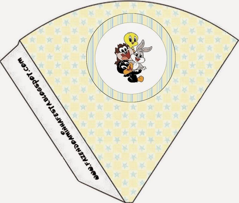 Free Printable Cones of Lonney Tunes Babies.